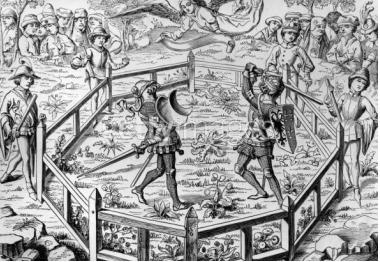 Duel judiciar în Evul Mediu